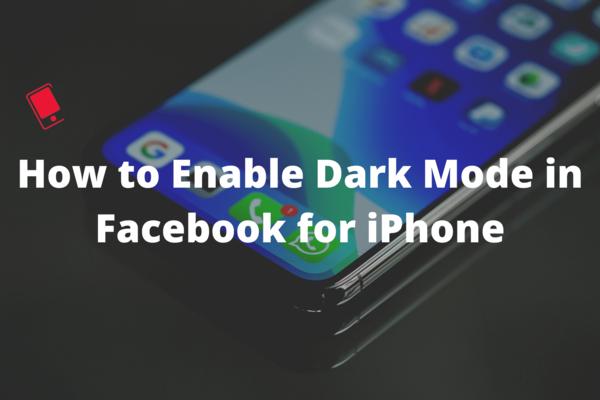 Cách bật Chế độ tối trong Facebook cho iPhone