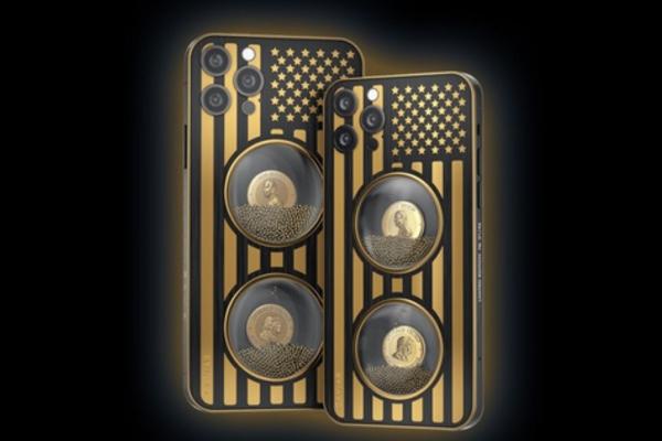 """Caviar ra mắt iPhone 12 Pro phiên bản """"Biden & Trump"""": Khung titan, đính vàng, giá từ 345 triệu đồng"""