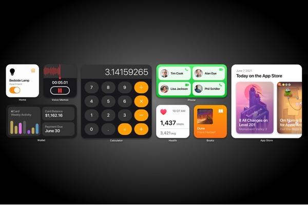 Widget sẽ xuất hiện trên iOS 15 tiện lợi và đẹp hơn
